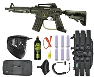 Buy US Army Alpha Black Tactical Paintball Marker Gun Sniper Set - Black by Tippmann
