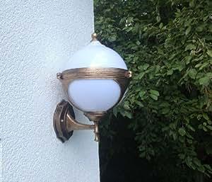kugel garten wandlampe aussenleuchte gold lampe leuchte gartenleuchte wandleuchte garten. Black Bedroom Furniture Sets. Home Design Ideas