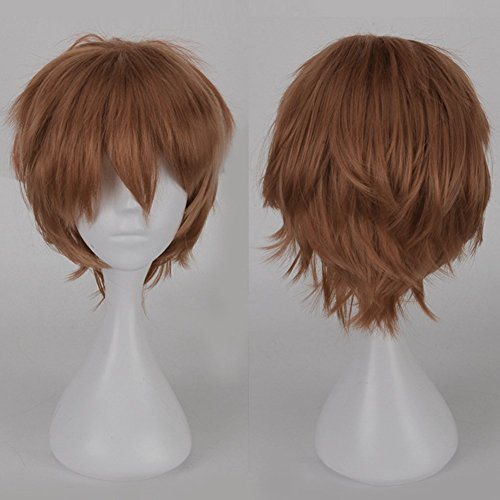 s-noilite-cosplay-curly-hair-tail-full-wigs-short-light-brown-wig-women-men-wig