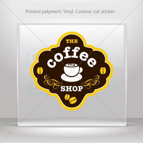 Sticker Decals The Coffee Shop Car Helmet Window Boat Jet-Ski Garage Door 6 X 5.7 Inches Vinyl Color Print 0600 W9668