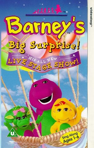 1999 Barney 10 Stories Super-Dee-Duper Play a Sound Board Book Purple Dinosaur