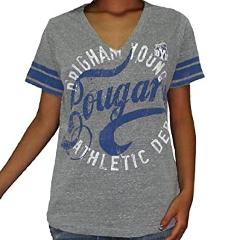 NCAA Brigham Young Cougars Ladies T-Shirt (Vintage Look) by NCAA