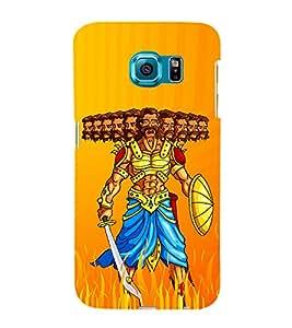 Illustration Of Ravana 3D Hard Polycarbonate Designer Back Case Cover for Samsung Galaxy S6 Edge :: Samsung Galaxy Edge G925