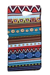 Aztec Retro Designer Print Snap-On Hard Slim Back Flexible Bumper Case Cover For Sony Xperia M2 Dual
