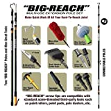 BIG-REACH Basic Extension Pole Set 4ft. to 22ft. reach - With Hook, Max-Suction Bulb Changer, Duster, Squeegee Adaptor and More!