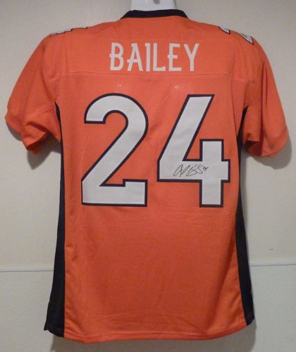 Champ Bailey Autographed Denver Broncos orange size XL jersey at Amazon.com