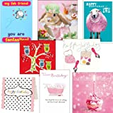 Birthday cards. Sugar and Spice - 8 birthday cards for teenage girlsby Woodmansterne,...