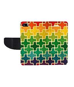 KolorEdge Printed Flip Cover For Apple iphone 5 - Multicolor( KEmLOGO5017Iphone5 )