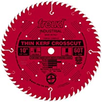Freud LU88R010 10-Inch 60 Tooth ATB Thin Kerf Crosscutting Saw Blade with 5/8-Inch Arbor and PermaShield Coating