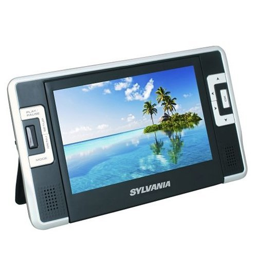 Sylvania SDVD8730 7-Inch Dual Screen Portable DVD Player with USB?SD Card Reader (Black)