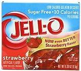 Kraft Jello Sugar Free Strawberry 8.5 g (Pack of 4)