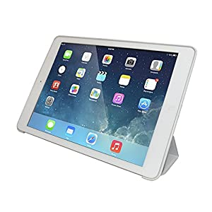 iPad Air 2 Case (iPad 6) - KHOMO DUAL Super Slim White Cover with White back and Smart Feature (Built-in magnet for sleep / wake feature) For Apple iPad Air 2 Tablet by iPad Air 2 Case