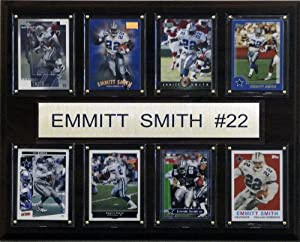 NFL Emmitt Smith Dallas Cowboys 8 Card Plaque by C&I Collectables