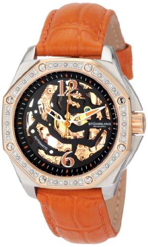 Stuhrling Original Women's 231.122S5F1 Madame Nemo Orange Leather Watch