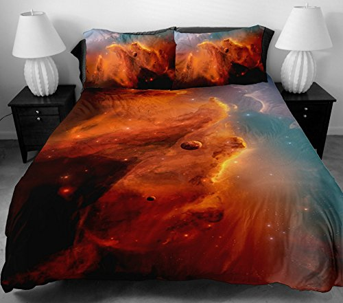 Anlye For Gifts For Boys Bedding Set 2 Sides Printing Design Of The Fancy Red Sky Duvet Covers Lines With 2 Red Pillow Cases King front-1070874