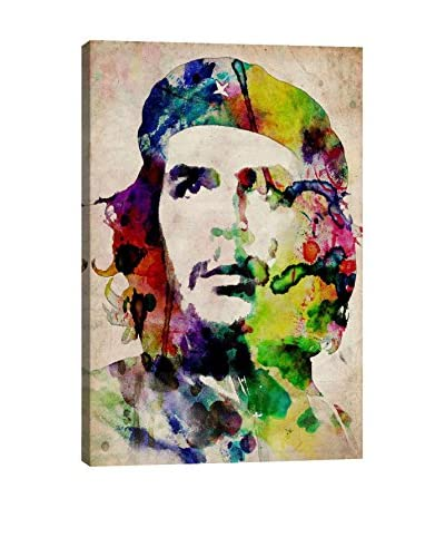 Michael Tompsett Che Guevara Urban Watercolor Gallery Wrapped Canvas Print