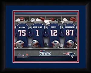 NFL Personalized Locker Room Print Black Frame Customized New England Patriots by You