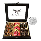 Chocholik Belgium Chocolates - Classic Combination Of Chocolates & Dry Fruits With 5gm Pure Silver Coin - Diwali...