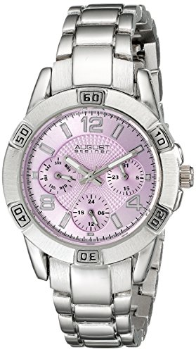 August Steiner Women's Analog Display Quartz Silver Watch