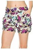 G2 Chic Women's Aztec Bohemian Print Harem Summer Shorts with Pockets