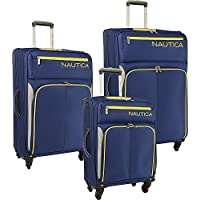 Nautica Ashore 3 Piece Luggage Set - Cobalt/Silver