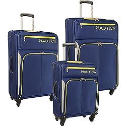 Nautica Ashore 3 Piece Luggage Set - Cobalt/Silver