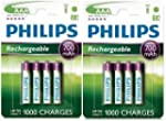 8 x PHILIPS RECHARGEABLE 700mAh AAA H...
