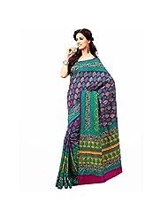 Ashika Printed New Indian Art Silk Sari And Saree (2379)