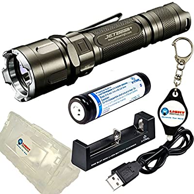 BUNDLE: JETBeam JET 3M PRO CREE XP-L 1100 Lumens LED Flashlight w/ 1x Xtar 18650 2600mAh rechargeable battery, 1x Xtar MC1 Charger, 1x Xtar Battery Case and 1x Lightjunction Keychain light from Jetbeam