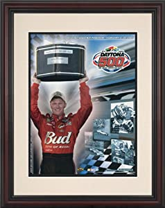 NASCAR Framed 8.5 x 11 Daytona 500 Program Print Race Year: 47th Annual - 2005 by Mounted Memories