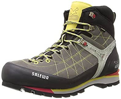 Salewa Mens MS RAPACE GTX Trekking & Hiking Shoes Gray Grau (Grey/Yellow 408) Size: 40