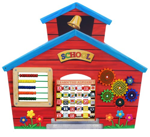 School building wall board abacus with 10 beads on each row teaches recognition skills Learn the Alphabet game schools, waiting rooms and doctors' offices SCH9032