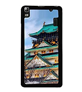 Vizagbeats Chinese Pagoda Bungalow Back Case Cover for LENOVO A7000