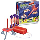 Jump Rocket LED Night Shotz - Jump Pump, Launcher & Light-Up Flying Foam Rockets