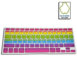 SmackTom Silicone KeyBoard Skin Cover For Apple MacBook Pro 13/15/17 Inch-Rainbow Color