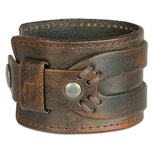 SilberDream Lederarmband antik braun Herren Leder Armband Echtleder LA4293B