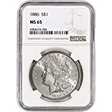 1886 US Morgan Silver Dollar NGC Large Label $1 MS65 NGC