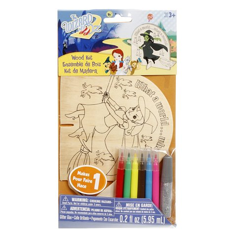WeGlow International The Wizard of Oz What A World! Color-In Wood Kits (2 Kits) - 1