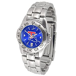 Louisiana Tech Bulldogs Sport AnoChrome Ladies Watch with Steel Band