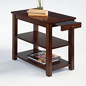 Rennes Chairsides End Table In Brown Rectangle Home Indoor Furniture Decor Wooden