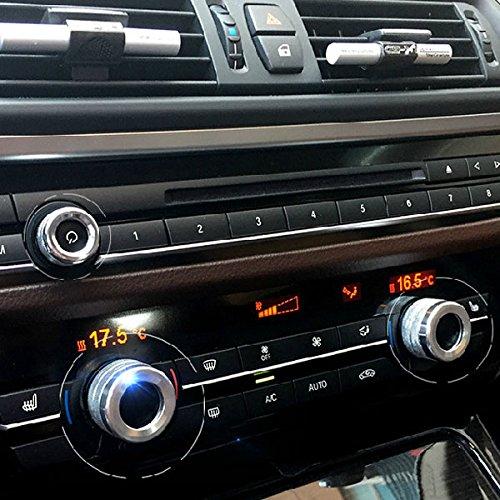 BMW エアコン オーディオ リング 5 6 7 シリーズF10 F11 F06 F07 F12 F13 F01 GT M5 シルバー