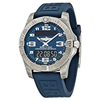 Breitling Aerospace Evo Blue Dial Rubber Mens Watch E7936310-C869BLPT3 from Breitling