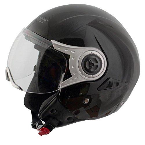Casco-Jet-Demi-Moto-Visiera-Parasole-Interna-Avio-Scooter-Omologato-Citt