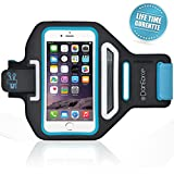 iPhone 6S Armband, iPhone 6 Armband, DanForce ArmTrek Sports Exercise Armband for Apple iPhone 6 6S Running Pouch Touch Compatible Key Holder [Black] [Lifetime Warranty] Good For hiking,Biking,Walking-Blue
