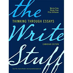 the write stuff thinking through essays by marcie sims Amazoncom: the write stuff: thinking through essays (with mywritinglab student access code card) (9780205708734): marcie sims: books.
