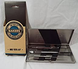 Bakers 3 Piece Wax Carving Tool Kit Medical Grade Stainless Steel in Case