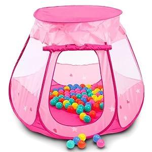 Tienda para ni os carpa infantil casa de princesas piscina for Piscina de bolas para bebes