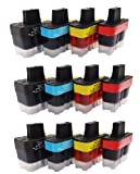 Three Sets Compatible ink for Brother MFC 410CN Printer, quality UCI ink sold by UK compatible ink