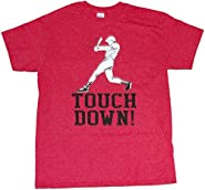 Touchdown Funny Baseball Football Sports Mens Unisex T-shirt Heather Red