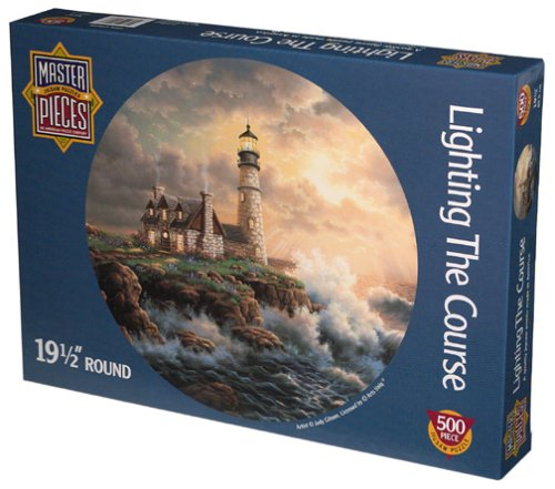 Lighting The Course 500 Piece Round Puzzle - 1